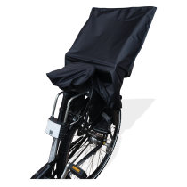 Rain cover for bicycle child seat including saddle cover