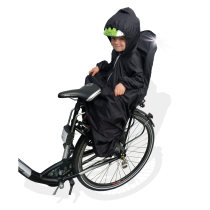 Rain coat for bicycle child seat